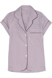 Verbier striped Swiss cotton pajama top