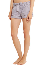 Bodas Verbier striped Swiss cotton pajama shorts