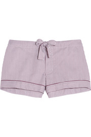Verbier striped Swiss cotton pajama shorts