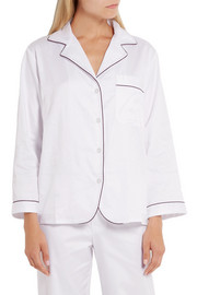 Bodas Cotton-sateen pajama shirt