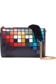 Anya Hindmarch Ephson shearling-trimmed leather shoulder bag