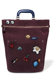 Orsett embellished suede tote