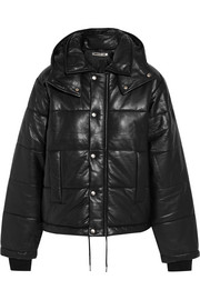 McQ Alexander McQueen Hooded quilted leather jacket