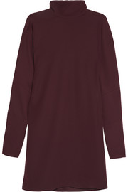 McQ Alexander McQueen Crepe de chine turtleneck mini dress