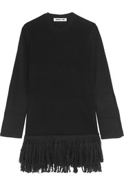 McQ Alexander McQueen Fringed wool mini dress