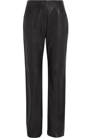 McQ Alexander McQueen Leather straight-leg pants