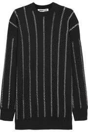 McQ Alexander McQueen Chain-embellished wool sweater