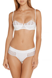 La Perla Charisma Leavers lace-paneled stretch-jersey underwired bra