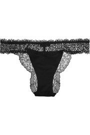 Charisma Leavers lace and stretch-jersey briefs