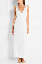 La Perla Charisma Leavers lace-trimmed jersey nightdress