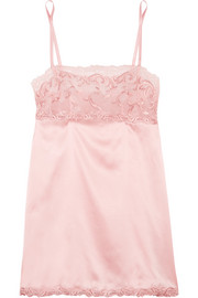La Perla Secret Story Leavers lace-trimmed stretch silk-blend satin chemise