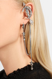 Alexander McQueen Silver-plated pearl and Swarovski crystal ear cuff
