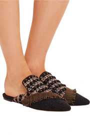 Sanayi313 La Scala embroidered felt slipppers
