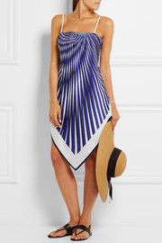 La Perla Op-Art printed satin-twill dress