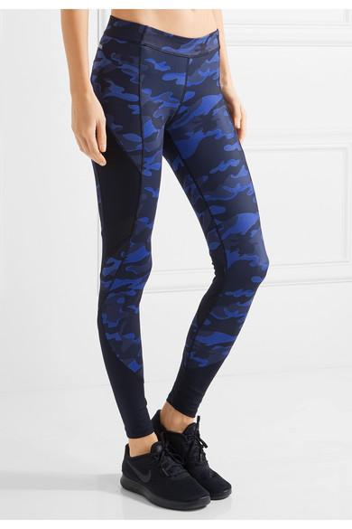 21cbe24aa9978f IVY PARK | Mesh-paneled camouflage-print stretch-jersey leggings ...