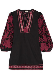 Talitha Salma embroidered cotton mini dress