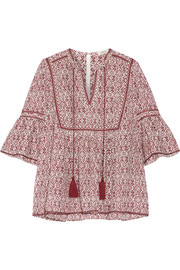 Talitha Gypsy printed silk and cotton-blend voile blouse