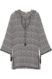 Talitha Printed silk-chiffon hooded tunic