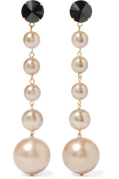 Marni Gold-Tone Faux Pearl Earrings jbIhNeIklj