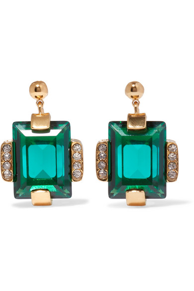 Marni - Gold-tone Crystal Earrings - one size