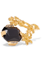 Marni Gold-tone crystal ring