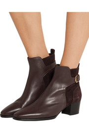 Tod's Leather and suede ankle boots