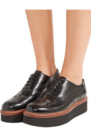 Tod's Glossed-leather platform brogues