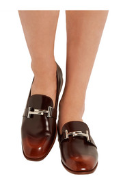 Tod's Burnished leather loafers