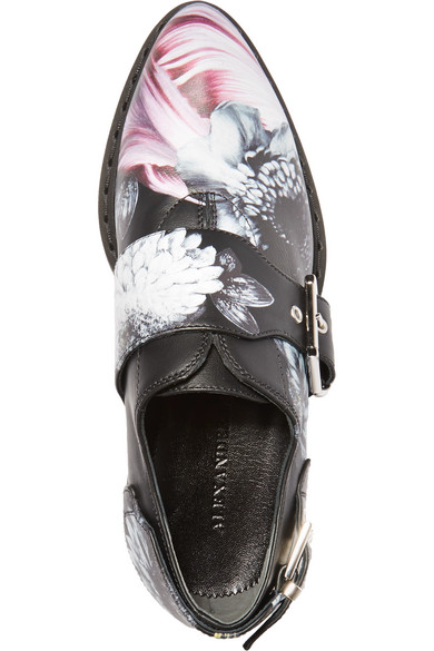 ALEXANDER MCQUEEN Leathers Printed leather platform loafers