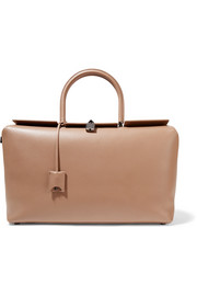 India large leather tote