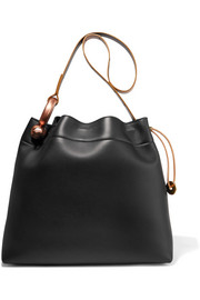 Hook leather tote