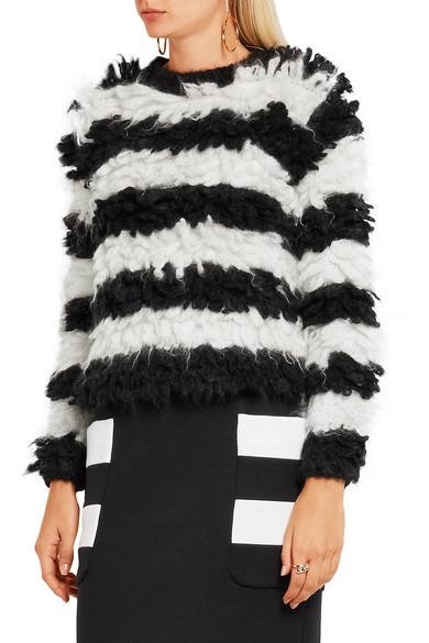c116f942c944 Max Mara. Striped mohair-blend sweater