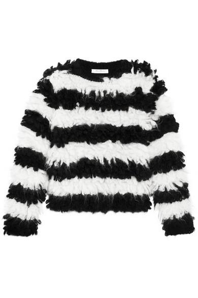 Max Mara - Striped Mohair-blend Sweater - Black