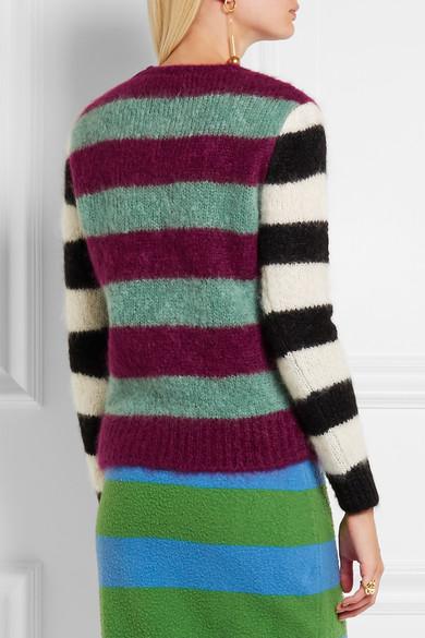 b3bf88c07377 Max Mara. Striped mohair-blend sweater. £185.50. Play