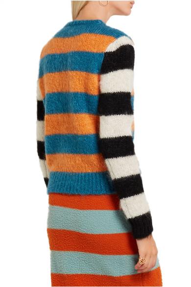 7299683c1968 Max Mara. Striped mohair-blend sweater.  210. Play