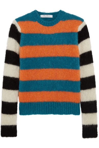 Max Mara - Striped Mohair-blend Sweater - Blue