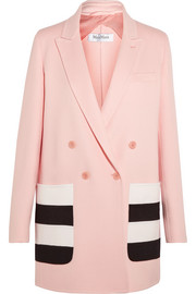 Striped wool and angora-blend felt blazer