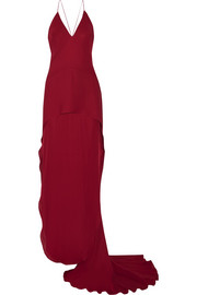 Maiyet Layered silk crepe de chine gown