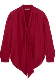 Maiyet Elipse pussy-bow silk crepe de chine blouse