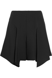 Asymmetric silk shorts