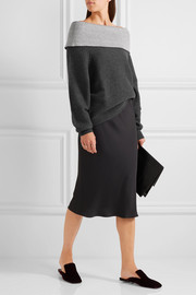 Maiyet Off-the-shoulder cashmere-blend sweater