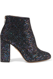 Alba glittered canvas ankle boots
