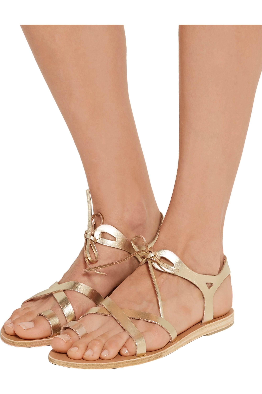 Valia Gabriel Grace metallic leather sandals