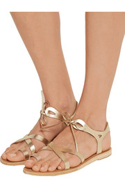Grace metallic leather sandals