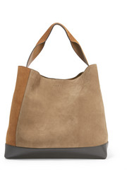 Pod suede and leather tote