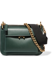 Marni Pocket two-tone leather shoulder bag