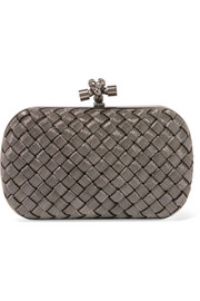 Bottega Veneta The Knot intrecciato metal clutch
