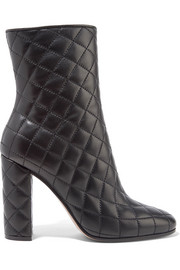 100 quilted leather ankle boots