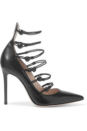 Gianvito Rossi Cutout leather pumps