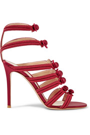 Regalia embroidered satin sandals